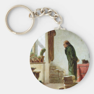 Carl Spitzweg - The Cactus Enthusiast Keychain