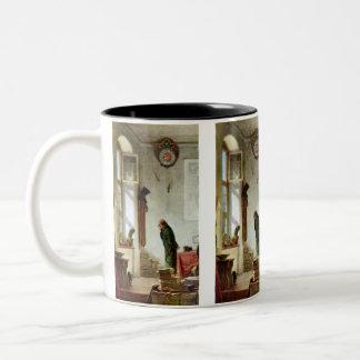 Carl Spitzweg - The Cactus Enthusiast Two-Tone Coffee Mug