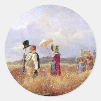 Carl Spitzweg - The Sunday Walk Stickers