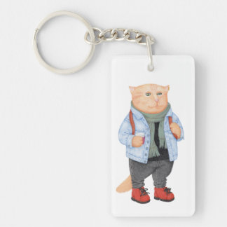 Carl the Cat Keychain