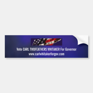 Carl Whitaker Blue Bumper Sticker