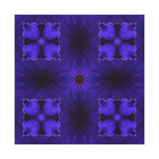 Carla 2, a Rich Blue-Purple Design Canvas Print