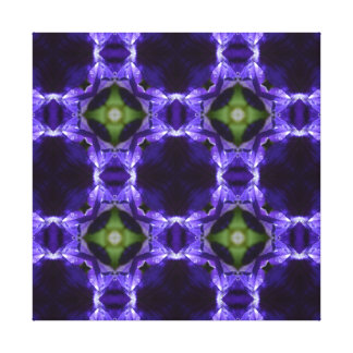 Carla 3, A Bright Blue-Purple Canvas Print