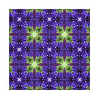 Carla 4, A Light Blue-Purple Pattern Canvas Print