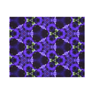 Carla 8, A Rich Blue-Purple Triangle Design Canvas Print