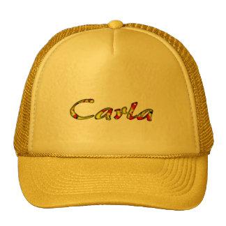Carla accessories yellow mesh hat