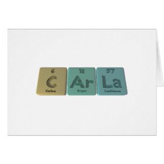 Carla as Carbon Argon Lanthanum Greeting Card