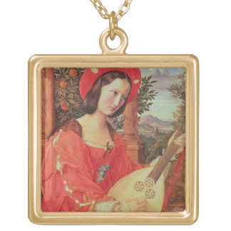Carla Bianca von Quandt, c.1820 (oil on canvas) Gold Plated Necklace