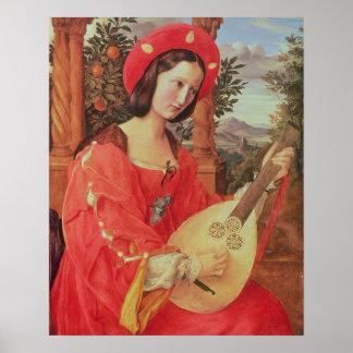 Carla Bianca von Quandt, c.1820 (oil on canvas) Posters