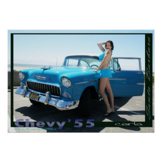 carla chevy'55 poster