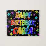 "[ Thumbnail: ""Carla"" First Name, Fun ""Happy Birthday"" Jigsaw Puzzle ]"