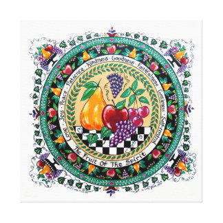 Carla Grace Fruit of the Spirit Christian Print Gallery Wrapped Canvas