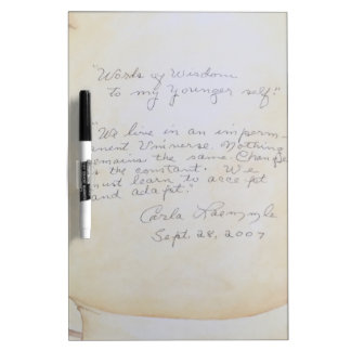 Carla Laemmle's Philosophy Dry Erase Board