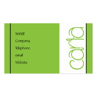 Carla lime Profile Card Double-Sided Standard Business Cards (Pack Of 100)
