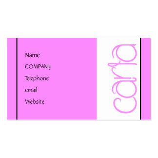 Carla pink Profile Card Double-Sided Standard Business Cards (Pack Of 100)