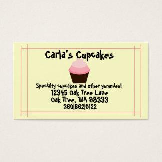 """Carla's Cupcake's"" Customizable Business Cards"