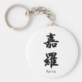 Carla tradujo a símbolos japoneses del kanji llavero personalizado