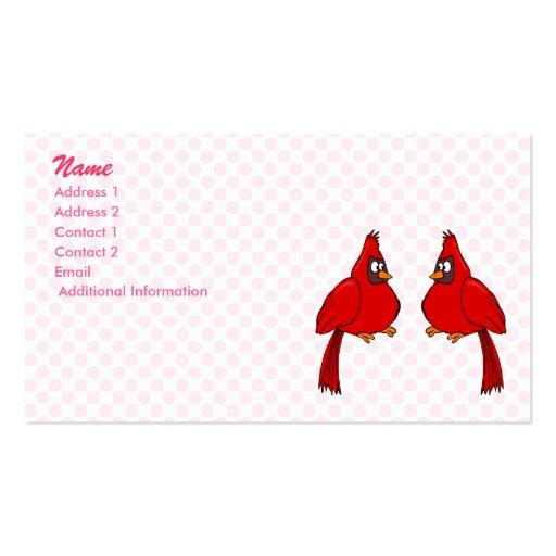Carlee & Carlie Cardinal Business Cards
