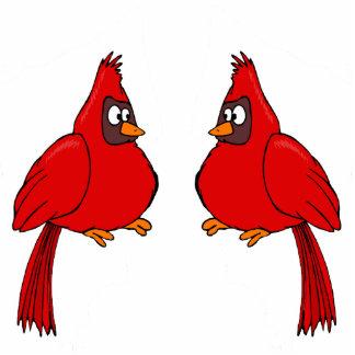 Carlee & Carlie Cardinal Cutout