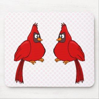 Carlee & Carlie Cardinal mousepad