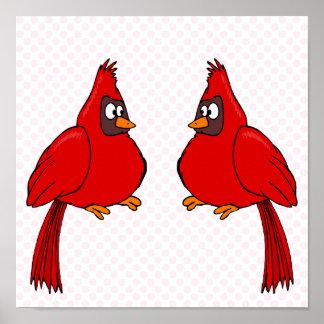 Carlee & Carlie Cardinal Print