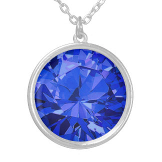 Carleigh's Faux September Birthstone Necklace