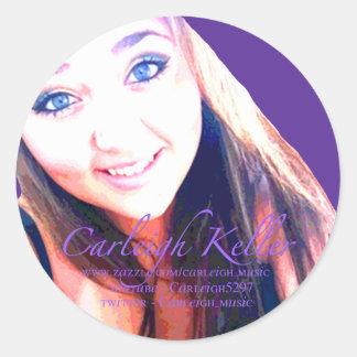 Carleigh's Krewe Photo Round Stickers