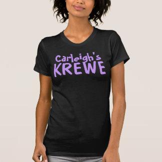 Carleigh's Krewe Text Black T-shirt