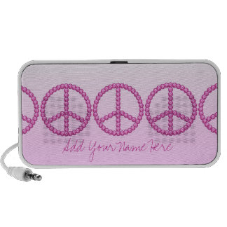 Carleigh's Pink Peace Bling Doodle speaker