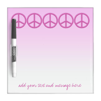Carleigh's Pink Peace Bling dry erase board
