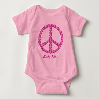 Carleigh's Pink Peace Bling Gifts Infant Creeper