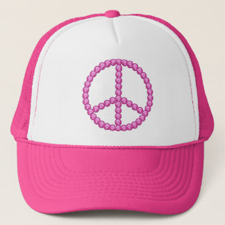 Carleigh's Pink Peace Bling Gifts Trucker Hat