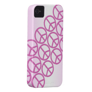 Carleigh's Pink Peace Bling iPhone case