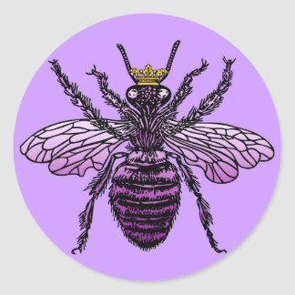Carleigh's Queen Bee apparel and gifts Classic Round Sticker