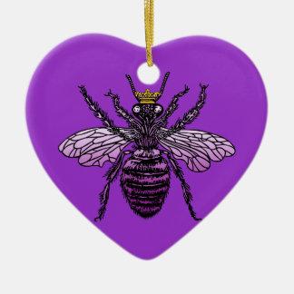 Carleigh's Queen Bee heart ornament