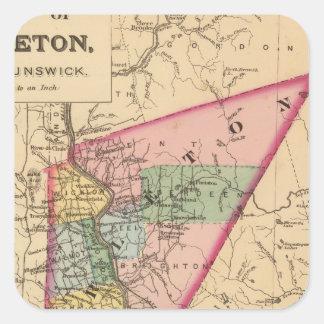 Carleton Co, NOTA Pegatina Cuadrada