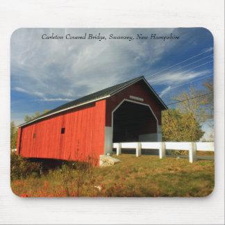 Carleton Covered Bridge Swanzey NH Mouse Pad
