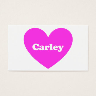 Carley Business Card