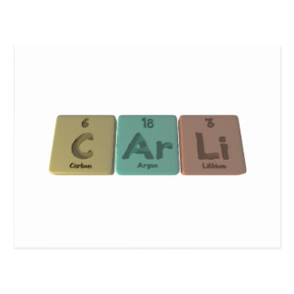 Carli as Carbon Argon Lithium Postcard
