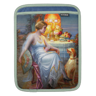 Carlier: Elegant Lady and her Dog Sleeve For iPads