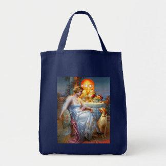 Carlier: Elegant Lady and her Dog Tote Bag