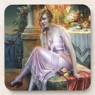 Carlier: Elegant Lady Beverage Coaster