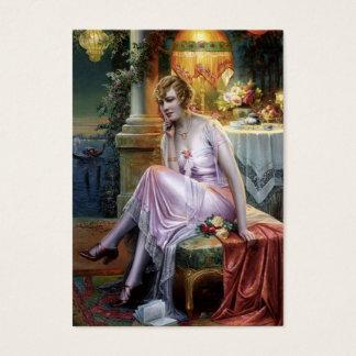 Carlier: Elegant Lady Business Card