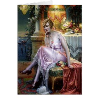 Carlier: Elegant Lady Card