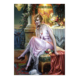 Carlier: Elegant Lady 5x7 Paper Invitation Card