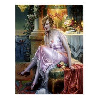 Carlier: Elegant Lady Postcard