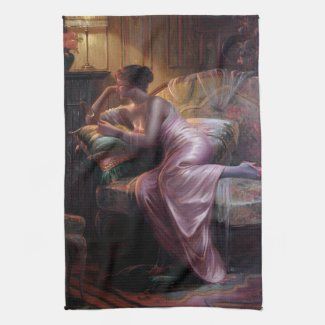 Max Albert Carlier: Elegant Lady with Mirror