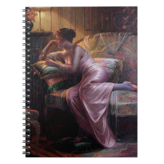 Carlier: Elegant Lady with Mirror Spiral Notebook
