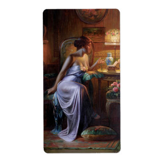 Carlier: Elegant Lady with Necklace Label