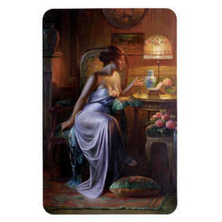 Carlier: Elegant Lady with Necklace Magnet